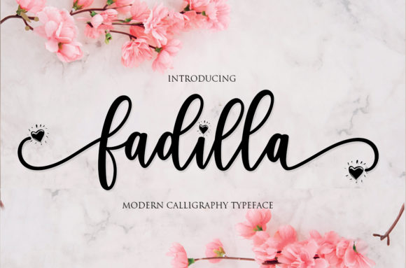 Download Free Fadilla Font By Mrletters Creative Fabrica for Cricut Explore, Silhouette and other cutting machines.