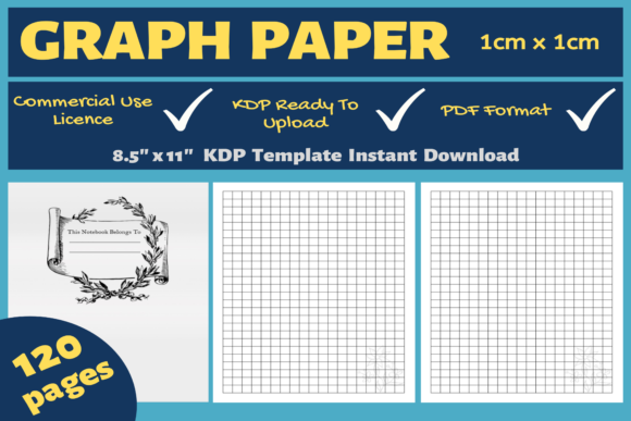 Print on Demand: Graph Paper 1 Cm X 1 Cm | KDP Interior Graphic KDP Interiors By Mastery Templates