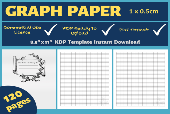 Download Free Graph Paper 1 X 0 5cm Kdp Interior Graphic By Mastery SVG Cut Files