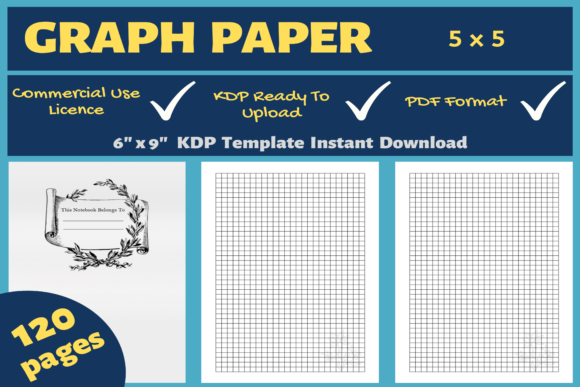 Download Free Graph Paper 5x5 Kdp Interior Graphic By Mastery Templates for Cricut Explore, Silhouette and other cutting machines.