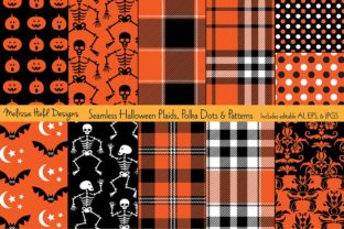 Halloween Plaids, Dots & Patterns Graphic Patterns By Melissa Held Designs