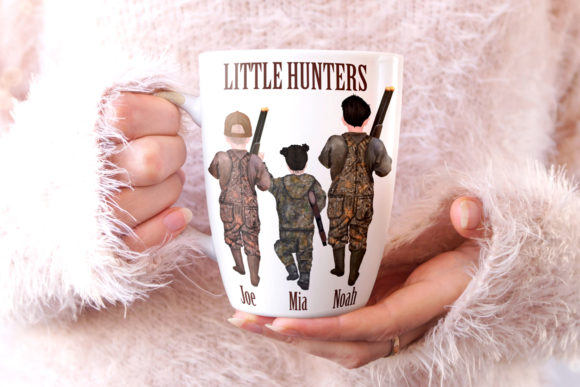 Download Free Hunters Family Clipart Graphic By Lecoqdesign Creative Fabrica for Cricut Explore, Silhouette and other cutting machines.