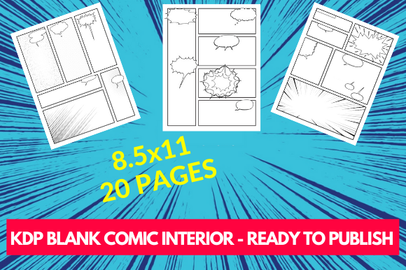 KDP Blank Comic Interior Graphic KDP Interiors By futurecreationsshop