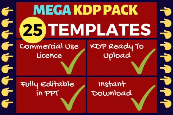 Print on Demand: KDP Bundle 25 Templates | KDP Interiors Grafik KPD Innenseiten von Mastery Templates