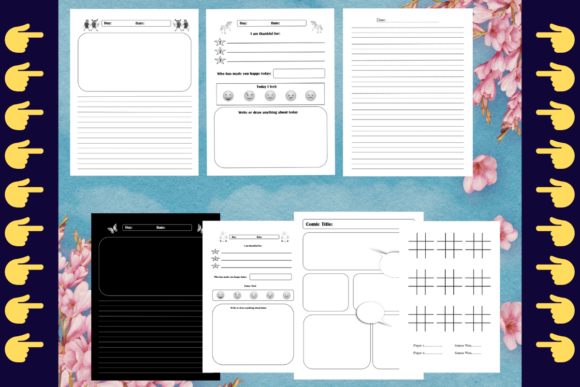 Download Free Kdp Bundle 7 Templates Kdp Interiors Graphic By Mastery for Cricut Explore, Silhouette and other cutting machines.