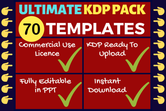 Download Free Kdp Bundle 70 Templates Ultimate Pack Graphic By Mastery for Cricut Explore, Silhouette and other cutting machines.