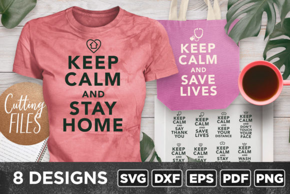 Print on Demand: Keep Calm Bundle Graphic Crafts By asaelvaras