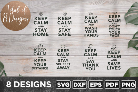 Download Free Keep Calm Bundle Graphic By Asaelvaras Creative Fabrica for Cricut Explore, Silhouette and other cutting machines.