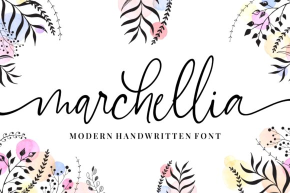 Print on Demand: Marchellia Script & Handwritten Font By goodjavastudio