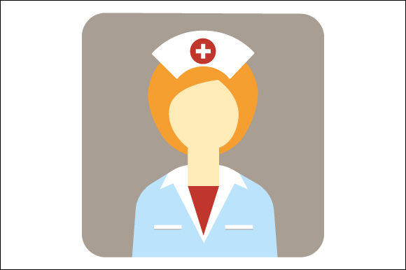 Download Free Modern Nurse Icon Illustration Graphic By Deniprianggono78 for Cricut Explore, Silhouette and other cutting machines.
