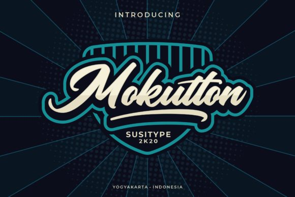 Print on Demand: Mokutton Script & Handwritten Font By susitype