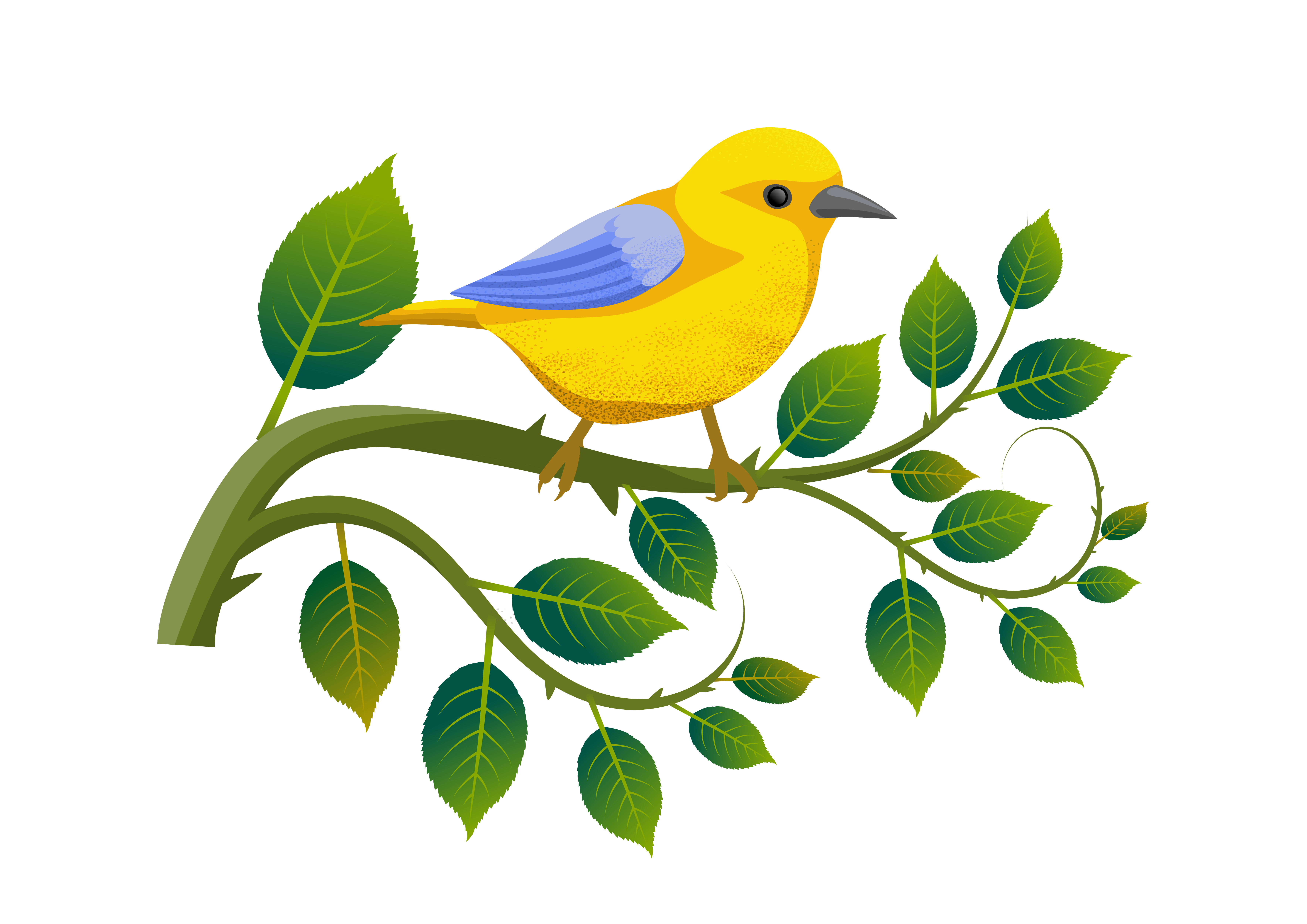 Download Free Nature Landscape And Stylizedfloral Bird Graphic By for Cricut Explore, Silhouette and other cutting machines.