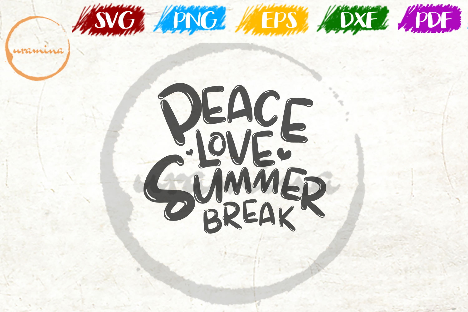 Download Free Peace Love Summer Break Graphic By Uramina Creative Fabrica for Cricut Explore, Silhouette and other cutting machines.