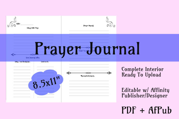 Prayer Journal Interior for KDP Print Graphic KDP Interiors By KDP Custom Interiors