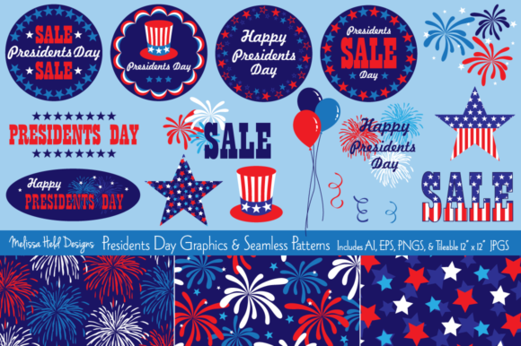 Presidents Day Graphics & Patterns Graphic Illustrations By Melissa Held Designs