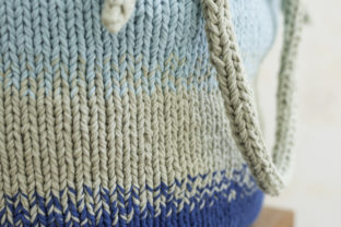 Pretty Utility Bucket Bag Knit Pattern Graphic Knitting Patterns By Knit and Crochet Ever After