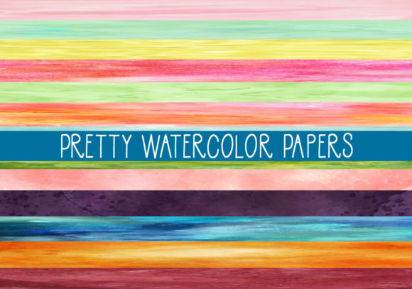 Print on Demand: Pretty Watercolor Papers Graphic Print Templates By CapeAirForce