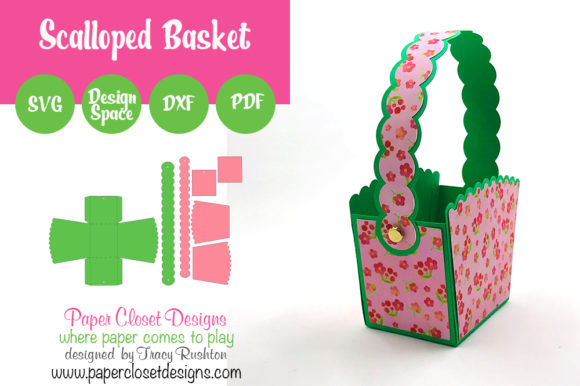 Print on Demand: Scalloped Basket Graphic 3D Shapes By rushton_tracy