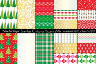 Seamless Christmas Vector Patterns Graphic Patterns By Melissa Held Designs