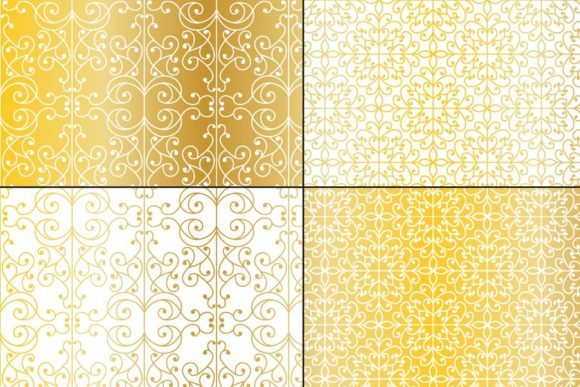 Download Free Seamless Gold Wrought Iron Patterns Graphic By Melissa Held for Cricut Explore, Silhouette and other cutting machines.