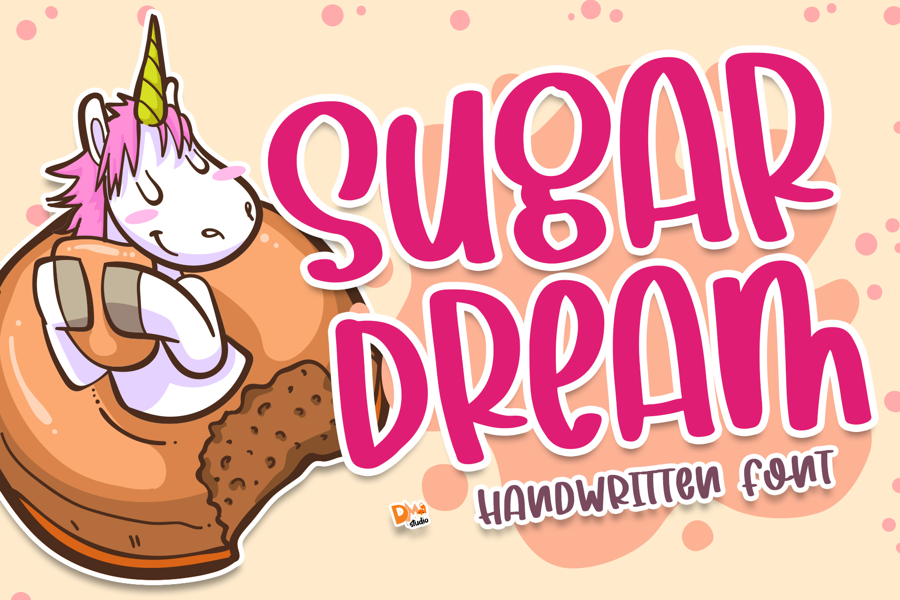Download Free Sugar Dream Font By Dmletter31 Creative Fabrica for Cricut Explore, Silhouette and other cutting machines.