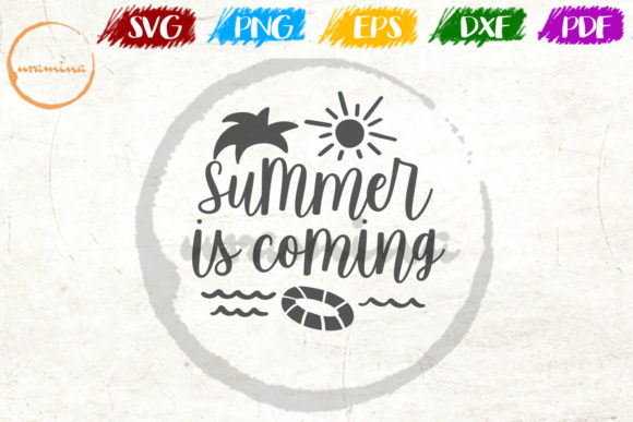 Download Free Summer Is Coming Graphic By Uramina Creative Fabrica for Cricut Explore, Silhouette and other cutting machines.
