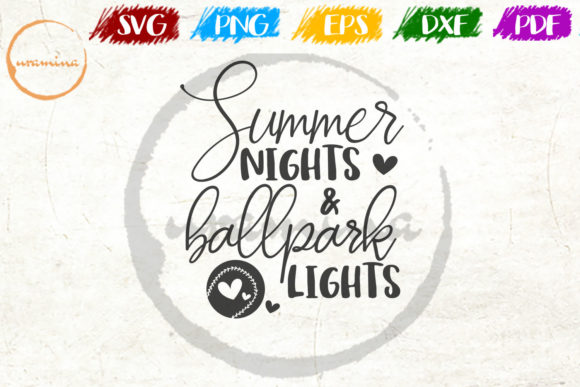 Download Free Summer Nights And Ballpark Lights Graphic By Uramina Creative for Cricut Explore, Silhouette and other cutting machines.