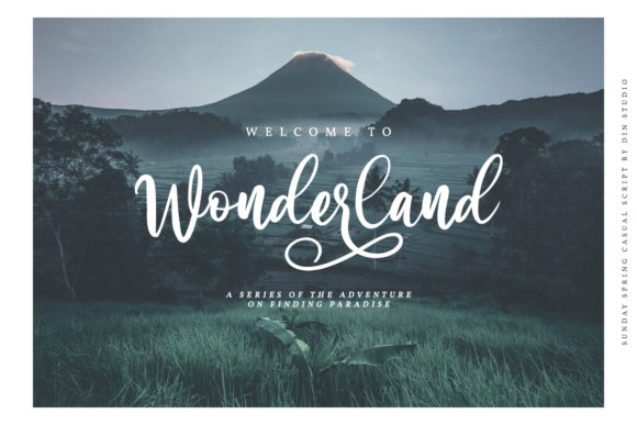 Print on Demand: Sunday Spring Script & Handwritten Font By Din Studio - Image 5