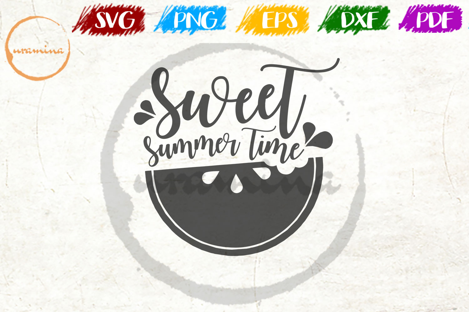 Download Free Sweet Summer Time Graphic By Uramina Creative Fabrica for Cricut Explore, Silhouette and other cutting machines.