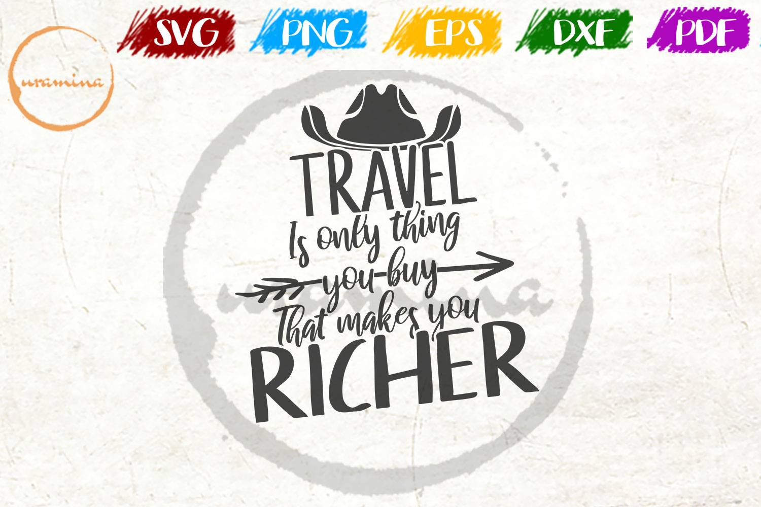 Download Free Travel Is Only Thing You Buy Graphic By Uramina Creative Fabrica for Cricut Explore, Silhouette and other cutting machines.