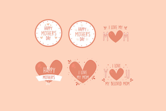 Mothers Day Flat Design Badges Pack Graphic By Aprlmp276