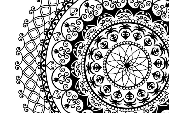 Download Free 2 Mandalas Art Graphic By Foundream Creative Fabrica for Cricut Explore, Silhouette and other cutting machines.