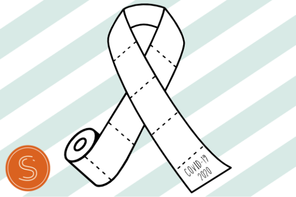 2020 Toilet Paper Ribbon Graphic Crafts By Susan Thomas