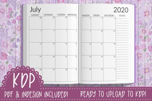 Print on Demand: 20-21 Monthly & Weekly Planner | KDP Graphic Print Templates By planfantastic