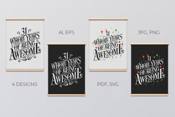 Download Free 7 Year Birthday And Anniversary Typo Set Graphic By Creator for Cricut Explore, Silhouette and other cutting machines.