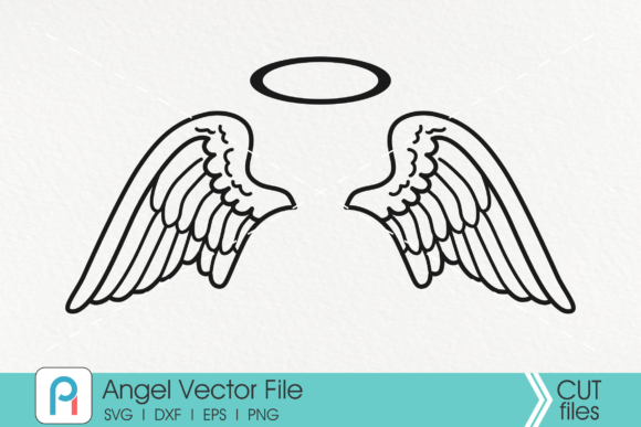 Download Free Angel Wings Angel Wings Graphic By Pinoyartkreatib Creative for Cricut Explore, Silhouette and other cutting machines.