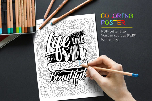 Download Free Quote For Coloring Anti Stress Graphic By for Cricut Explore, Silhouette and other cutting machines.