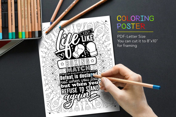Anti-Stress Quote for Coloring Graphic