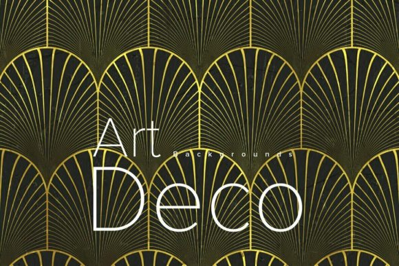 Download Free Art Deco Backgrounds Graphic By Dotstudio Creative Fabrica for Cricut Explore, Silhouette and other cutting machines.