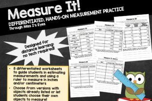 At-Home Hands-on Measurement Practice Graphic 2nd grade By hi miss i