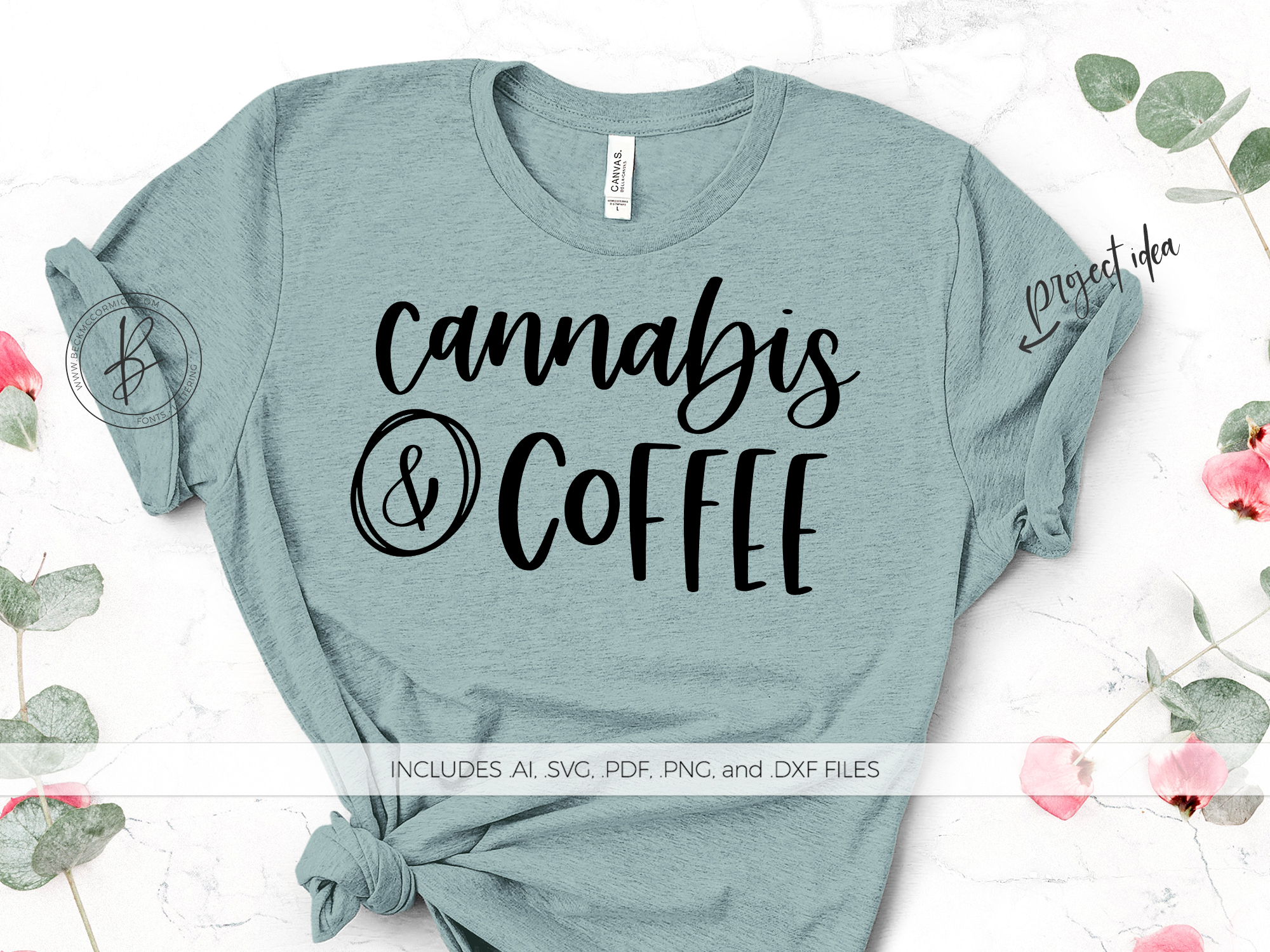 Download Free Cannabis And Coffee Graphic By Beckmccormick Creative Fabrica for Cricut Explore, Silhouette and other cutting machines.