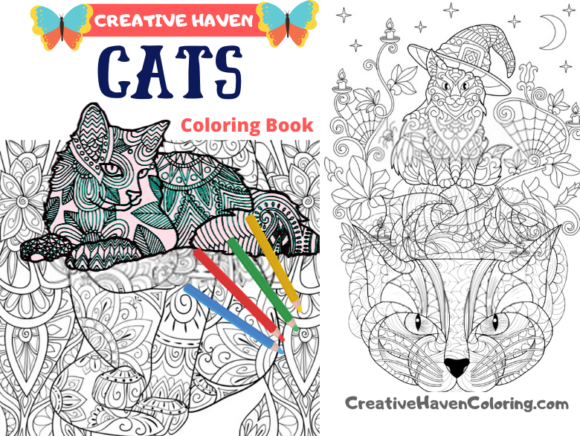 Cats Coloring Book for Aduts Graphic Coloring Pages & Books Adults By coloringpages