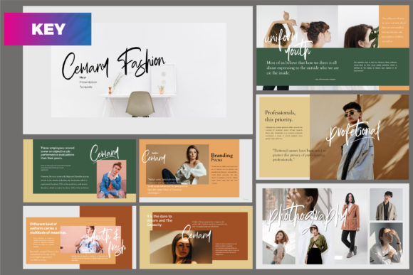 Download Free Gustas Fashion Powerpoint Template Graphic By Mindtype Co for Cricut Explore, Silhouette and other cutting machines.