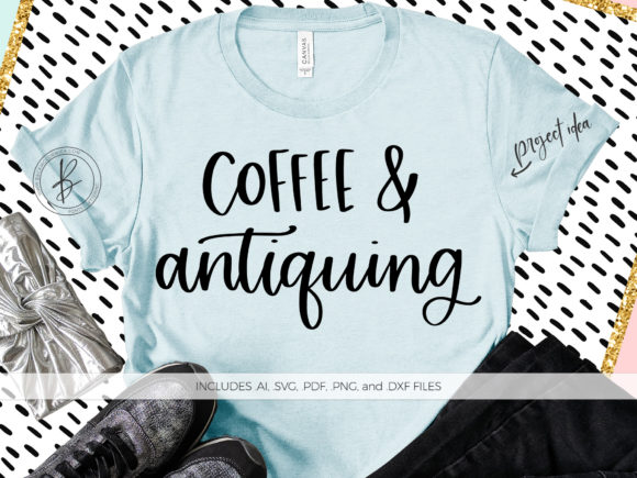 Download Free Coffee And Antiquing Graphic By Beckmccormick Creative Fabrica for Cricut Explore, Silhouette and other cutting machines.