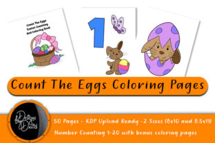 Print on Demand: Count the Eggs Coloring Pages KDP Ready Graphic Coloring Pages & Books Kids By Designs By David