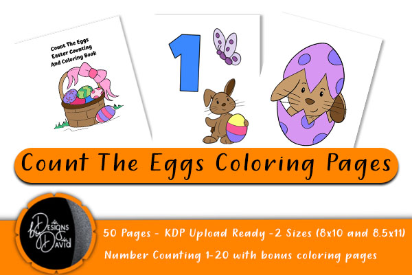 Download Free Count The Eggs Coloring Pages Kdp Ready Grafico Por Designs By for Cricut Explore, Silhouette and other cutting machines.