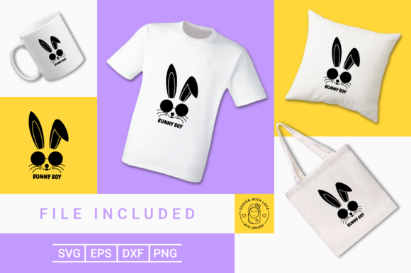 Download Free Cute Bunny Boy Silhouette Graphic By Ayuariani Creative Fabrica for Cricut Explore, Silhouette and other cutting machines.