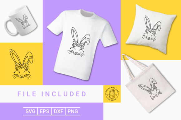 Download Free Cute Bunny Girl Graphic By Ayuariani Creative Fabrica for Cricut Explore, Silhouette and other cutting machines.