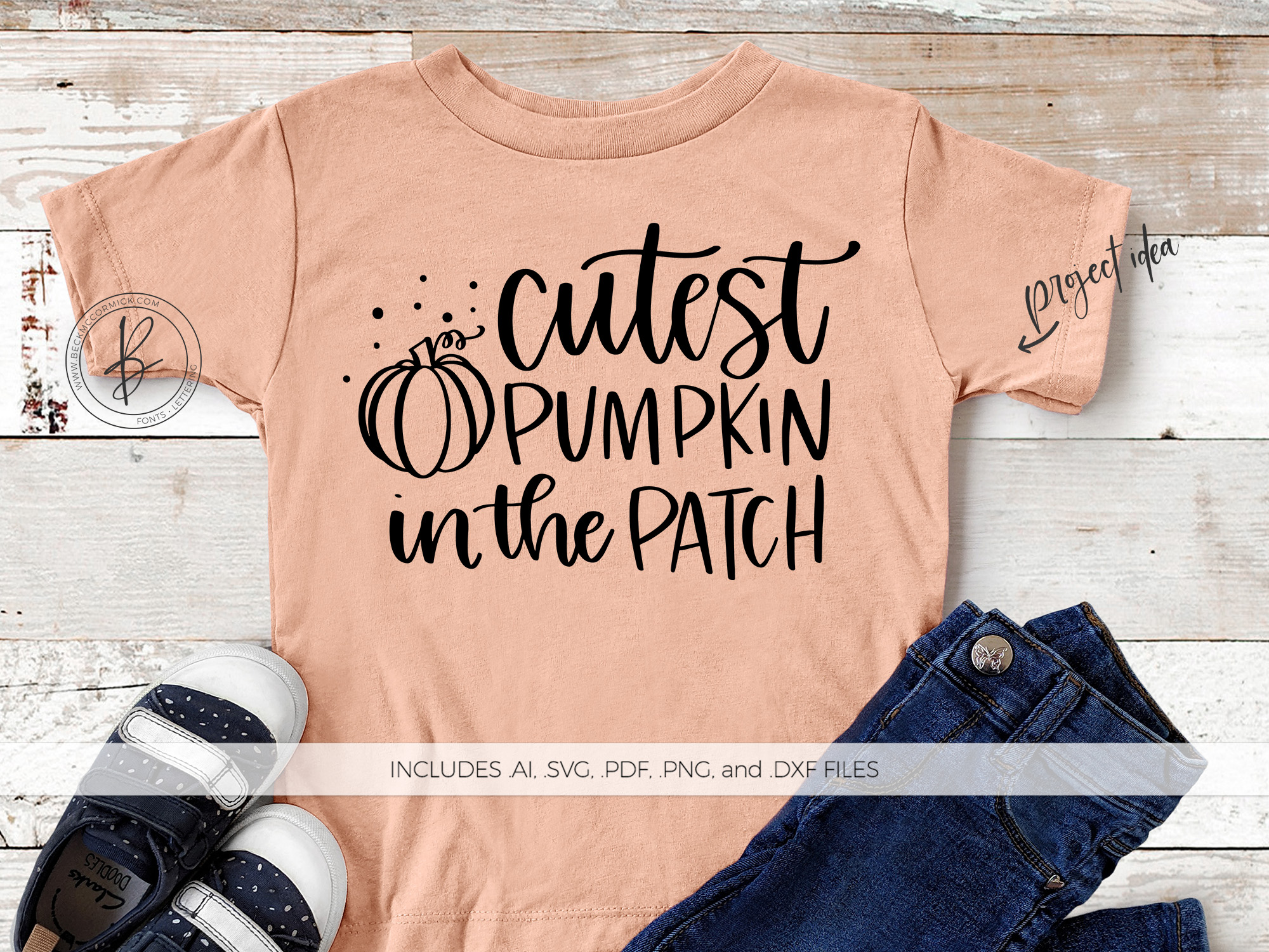 Download Free Cutest Pumpkin In The Patch Graphic By Beckmccormick Creative for Cricut Explore, Silhouette and other cutting machines.