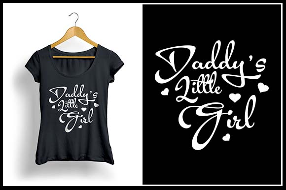 Download Free Daddy S Little Girl Graphic By Zaibbb Creative Fabrica for Cricut Explore, Silhouette and other cutting machines.
